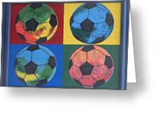 Soccer Balls Greeting Card