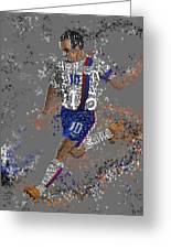 Soccer Greeting Card by Danielle Kasony