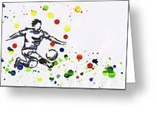 Soccer Player In Action Greeting Card