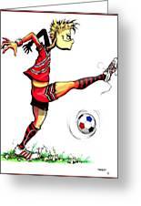 Soccer Striker Greeting Card