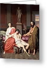 Socrates Chiding Alcibiades Greeting Card
