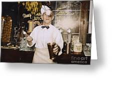 Soda Jerk, 1939 Greeting Card