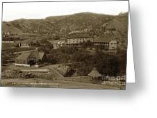 Soda Springs And Cliff House In Manitou, Colorado Greeting Card