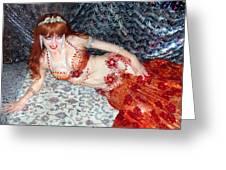 Sofia Metal Queen. Ameynra Bellydance Star Model Greeting Card