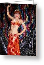 Sofia Metal Queen - Belly Dancer Model At Ameynra Greeting Card