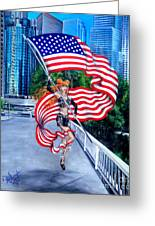 Sofia Metal Queen. Born 4th Of July Greeting Card