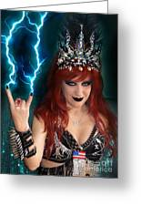 Sofia Metal Queen. Metal Is Lifestyle Greeting Card