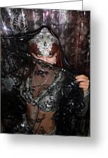 Sofia Metal Queen - Black Metal Bellydancer Model Greeting Card