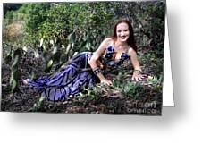 Sofia Of Ameynra. Cybergoth Belly Dancer Greeting Card