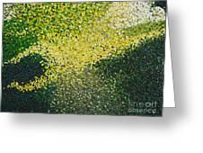Soft Green Light  Greeting Card