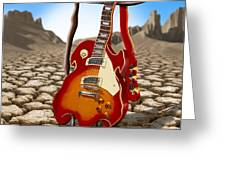 Soft Guitar II Greeting Card