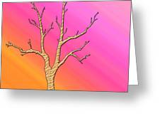 Soft Pastel Tree Abstract Greeting Card