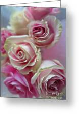 Soft Pink Roses Greeting Card