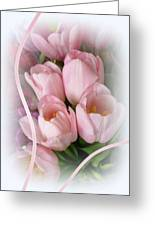 Soft Pink Tulips Greeting Card