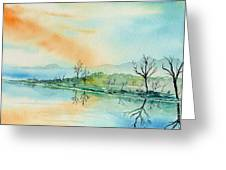 Soft Reflections  Greeting Card