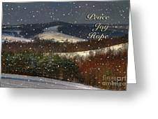 Soft Sifting Christmas Card Greeting Card by Lois Bryan