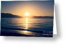 Soft Sunset Lake Greeting Card