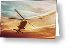 Soft Sunset Landing  Greeting Card