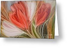Soft Tulips Greeting Card by Fatima Stamato