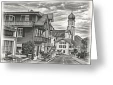 Soft Village Image Greeting Card