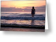 Soft Waves Greeting Card