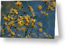 Softly Yellow And Blue Greeting Card