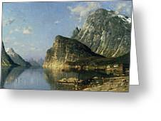 Sogne Fjord Norway  Greeting Card