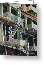 Soho Fire Escapes Greeting Card