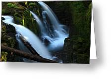 Sol Duc Falls 3 Greeting Card