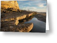 Solana Beach Low Tide Greeting Card