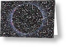 Solar Eclipse In Totality 5 Aboriginal Dotted Art Style Greeting Card