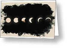 Solar Eclipse Phases Greeting Card