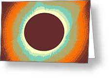 Solar Eclipse Poster 4 Greeting Card