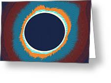 Solar Eclipse Poster Greeting Card