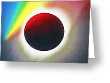 Solar Eclipse Spectrum  Of 2017 2 Greeting Card