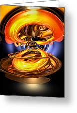 Solar Flare Abstract Greeting Card