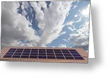 Solar Panels On Roof Top Greeting Card