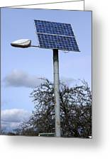 Solar Powered Street Light, Uk Greeting Card