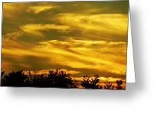 Solar Storm Sunset Greeting Card