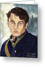 Soldier Blue Greeting Card by Sydne Archambault
