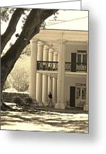 Soldier Leaving Plantation Greeting Card