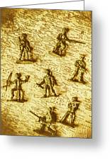Soldiers And Battle Maps Greeting Card