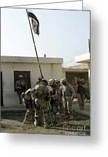 Soldiers From The Iraqi Special Forces Greeting Card