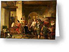 Soldiers In A Tavern During The Thirty Years Greeting Card