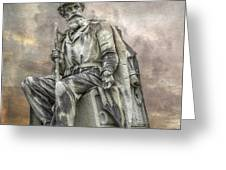 Soldiers National Monument War Statue Gettysburg Cemetery  Greeting Card