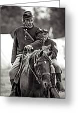 Solider On Horseback Greeting Card
