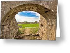Solin Ancient Arena Old Ruins Greeting Card