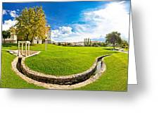 Solin Park And Church Panoramic View Greeting Card