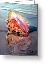 Solitary Conch Greeting Card