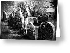 Solitary Cross At Fuerty Cemetery Roscommon Irenand Greeting Card